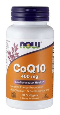 Picture of NOW CoQ10, 400 mg, 30 softgels