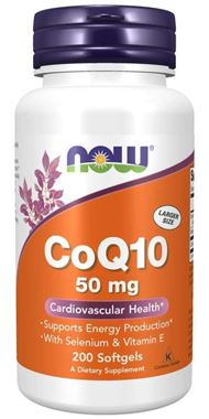 Picture of NOW CoQ10, 50 mg, 200 softgels