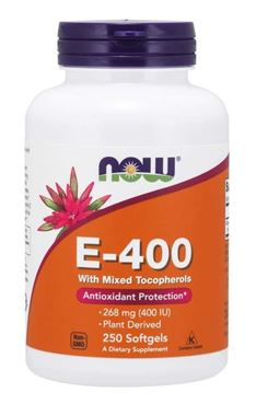 Picture of NOW E-400 With Mixed Tocopherols, 250 softgels