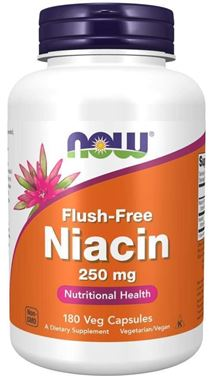Picture of NOW Flush-Free Niacin, 250 mg, 180 vcaps
