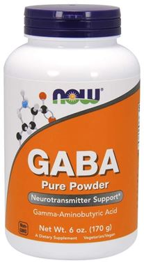 Picture of NOW GABA Pure Powder, 6 oz