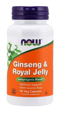 Picture of NOW Ginseng & Royal Jelly, 90 vcaps
