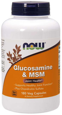 Picture of NOW Glucosamine & MSM, 180 vcaps