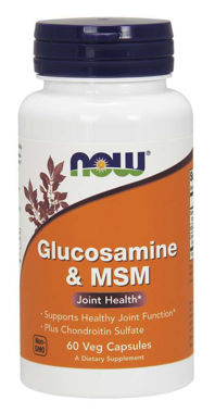 Picture of NOW Glucosamine & MSM, 60 vcaps