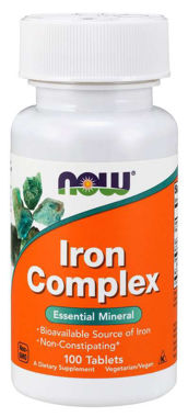 Picture of NOW Iron Complex, 100 tabs