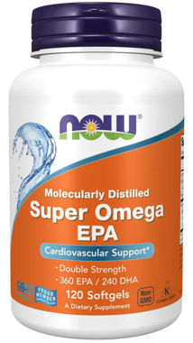 Picture of NOW Molecularly Distilled Super Omega EPA, 120 softgels
