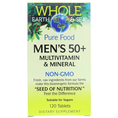 Picture of Natural Factors Whole Earth & Sea Pure Food Men's 50+ Multi, 120 tablets