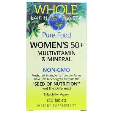 Picture of Natural Factors Whole Earth & Sea Pure Food Women's 50+ Multi, 120 tablets